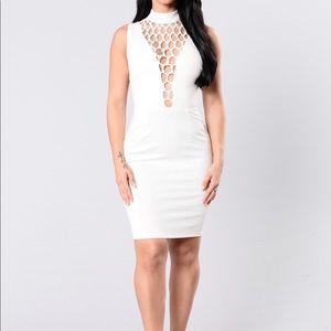 Cute white elegant/ sexy dress